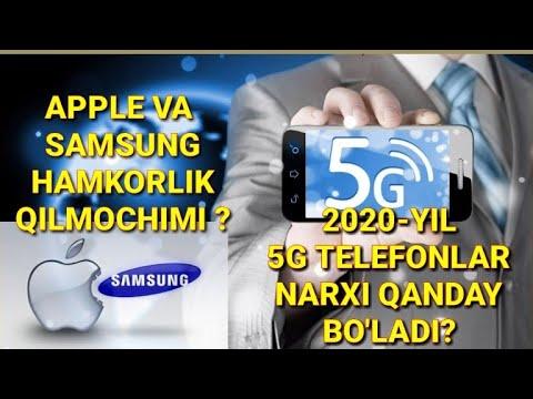 2020-YILDA 5G SMARTFONLAR NARXI QANDAY BO'LADI//APPLE BILAN SAMSUNG HAMKORLIK QILADIMI ??!!