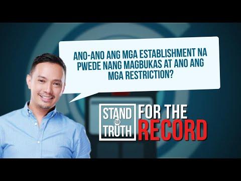 [GMA]  Gyms at iba pang non-contact sports venues, bubuksan na   Stand for Truth