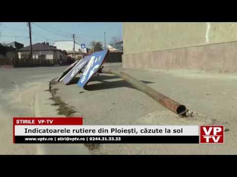 Indicatoarele rutiere din Ploiești, căzute la sol