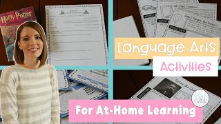 Language Arts Activities For At Home Learning