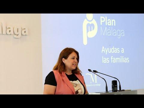 Presentación de ayudas a las familias del Plan Málaga