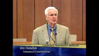 Insurance Commissioner Jim Donelon - Unclaimed Property Insurance Rebates