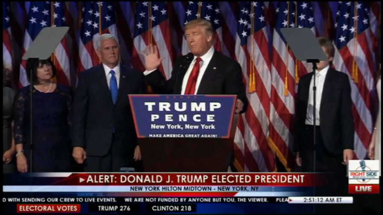 Discurso del triunfo de Donald Trump