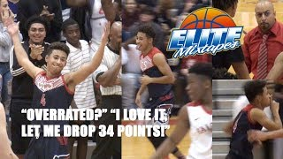 Julian Newman Responds To OVERRATED Chants w/ 34 Points!!!