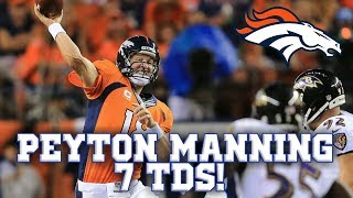 Peyton Manning Humiliates Ravens Defense in 2013! || Throwback Highlights