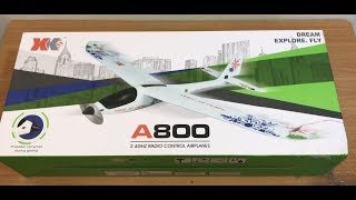 XK A800 RC Glider Unboxing