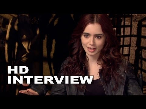 """The Mortal Instruments: City of Bones: Lily Collins """"Clary"""" On Set Interview"""