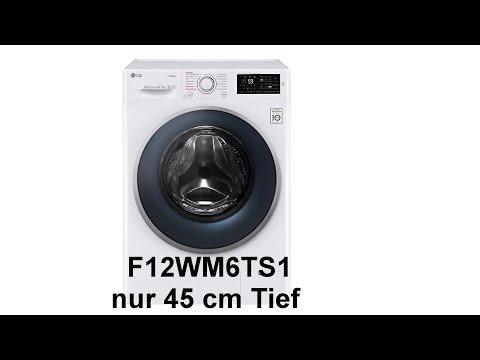 Waschmaschine LG Electronics, F12WM6TS1, 6,5 KG mit Dampf, A+++ -10%, Inverter Direct Drive, 6Motion