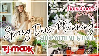 SPRING DECOR HAUL 2021 | SHOP WITH ME AT HOMEGOODS TJ MAXX & TARGET FOR SPRING FARMHOUSE HOME DECOR!