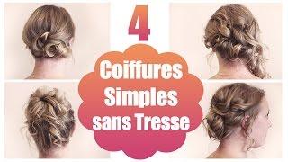 ➳ 4 Coiffures Simples Sur Cheveux Fins Sans Tresse | L.A Hairstyle Inspiration