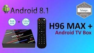 H96 Max 3318 TV Box Android 9 0 - Black 2GB RAM+16GB ROM