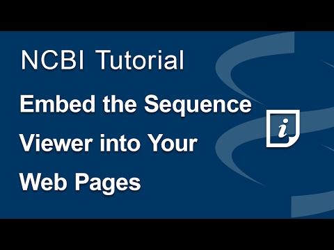 NCBI Insights : New video on YouTube: Embed the NCBI