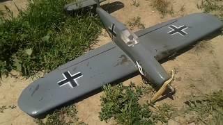 Кордовая модель Me-109 c КМД-2.5