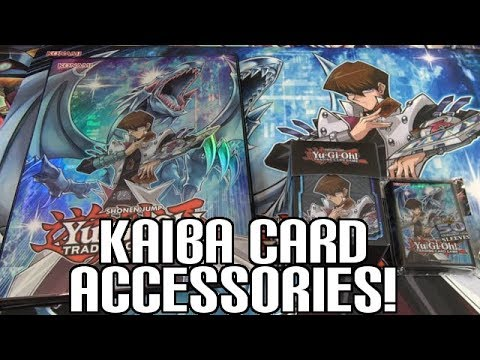 NEW! Yugioh Seto Kaiba Majestic Collection Review   New Playmat, Portfolio, Sleeves, & Deck Case