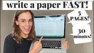 How to Write a 5 Page Paper in 30 MINUTES! | 2019