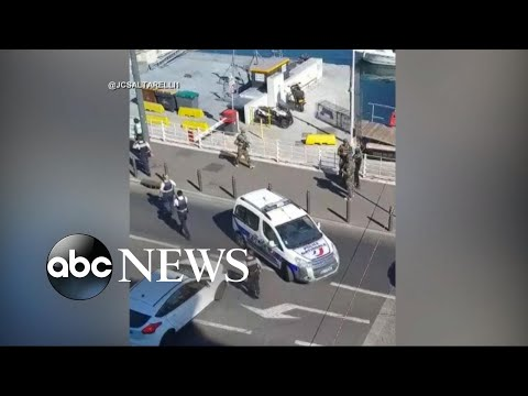 Van rams into bus stops in France