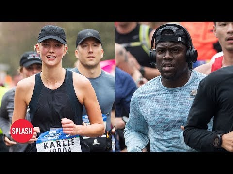 Kevin Hart and Karlie Kloss Run NYC Marathon | Daily Celebrity News | Splash TV (видео)