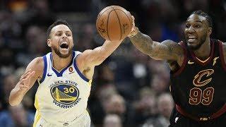 LeBron James vs Kevin Durant! Stephen Curry Dunk! Warriors vs Cavs 2017-18 Season