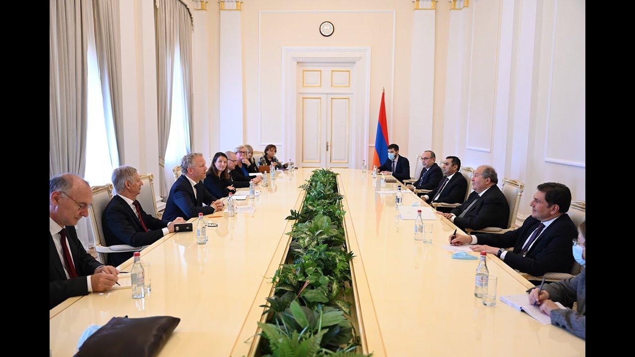 Армен Саркисян принял группу докладчиков Комитета министров Совета Европы по вопросам демократии