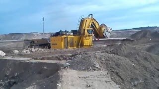 Komatsu PC 8000 loading a CAT 793 at Kearl Oil Sands, Canada