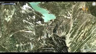 preview picture of video 'Volo Virtuale sul percorso Tirano - St. Moritz - by Giovanni Rosin - John'