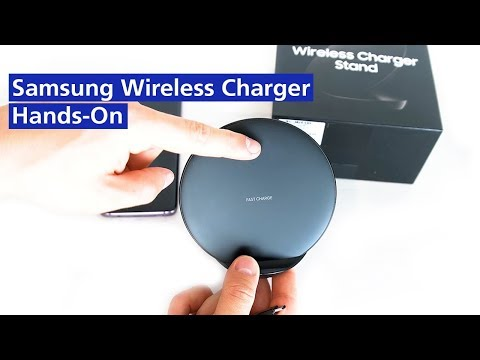 Samsung Galaxy S9: Wireless Charger Stand 2018 im Hands On (deutsch HD)