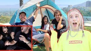 Camping Overnight in David Dobriks Backyard!!