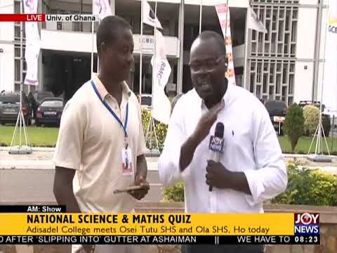National Science and Maths Quiz   AM Show on JoyNews 20 6 18