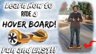 Hover board - Unboxing and Hands on. Learn how to ride a Hoverboard!! EASY! Watch in 4K!!