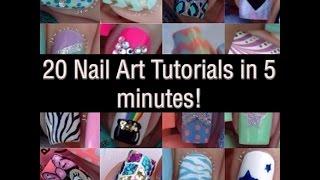 20 Mini Nail Art Tutorials