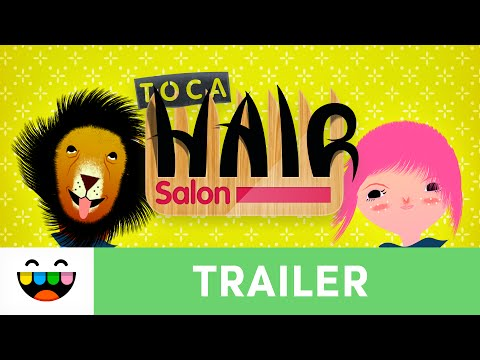 Screenshot of video: Toca Hair Salon
