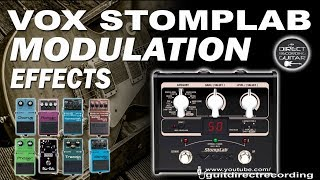 VOX Stomplab MODULATION - All Effects - Chorus, Flanger, Phaser...
