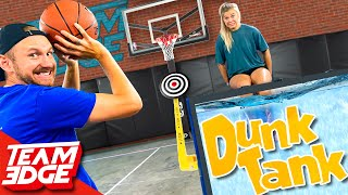 Don't Dunk Your Wife Challenge!! | Dunk Tank Basketball!!