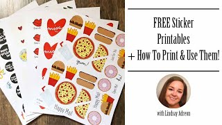 Free Printable Stickers & How To Print & Use Them