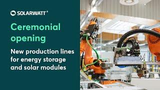 Solarwatt opent nieuwe productielijn