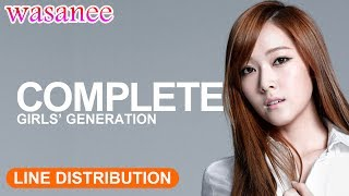 Girls' Generation/Snsd - Complete - Line Distribution (Color Coded Live)