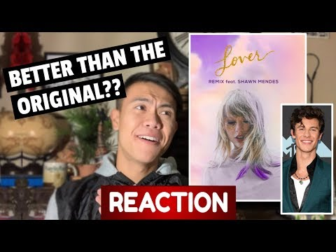 Taylor Swift - Lover (Remix) [feat. Shawn Mendes] REACTION