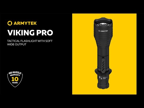 Armytek Viking Pro — tactical flashlight with wide output and magnetic charger