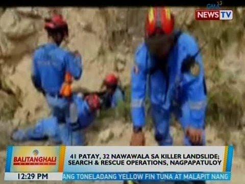 [GMA]  BT: 41 patay, 32 nawawala sa killer landslide sa Naga City, Cebu