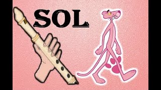 La pantera rosa, simplificada y fácil para flauta dulce. PINK PANTHER RECORDER / Tutorial .