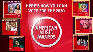 AMA Nomination list I How to Vote in AMA 2020 I American Music Awards 2020 Full list of Nominations