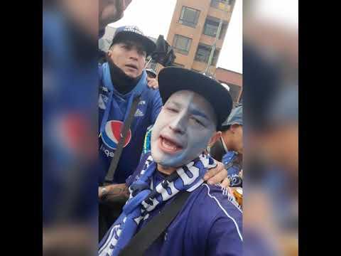 """""""Comandos Azules Distrito Capital"""" Barra: Comandos Azules • Club: Millonarios • País: Colombia"""