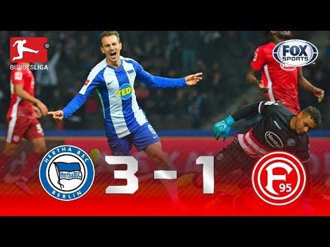 CHUVA DE GOLS! Veja os melhores momentos da partida Hertha Berlin x Fortuna Düsseldorf