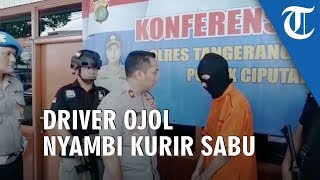 Pengemudi Ojol Nyambi Kurir Sabu Diringkus Aparat Polsek Ciputat