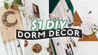$1 DIY DORM ROOM DECOR (2018) ✏️ Super Easy + Aesthetic //  Lone Fox