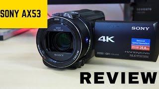 Sony FDR AX53 Handycam: Perfect YouTube 4K Camera!!!