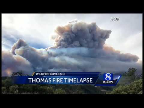 Thomas Fire spreads to Santa Barbara County