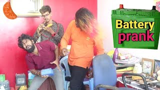Car Bike Battery shop prank | mechanic prank | orange Mittai