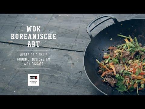 Weber Stephen Grill – Koreanisch kochen mit dem Weber Original Wok Einsatz
