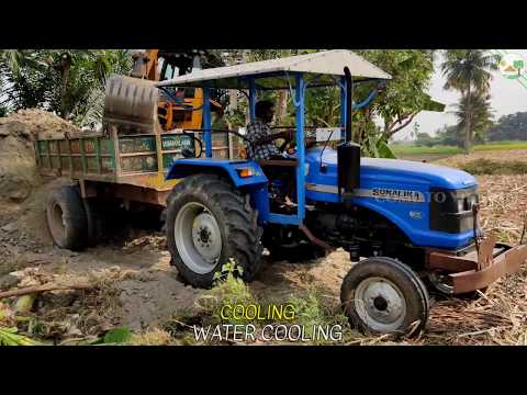 Sonalika DI 47 RX and JCB 3DX Machine with Tractor & JCB Videos